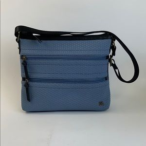 The sak Blue zipper Crossbody